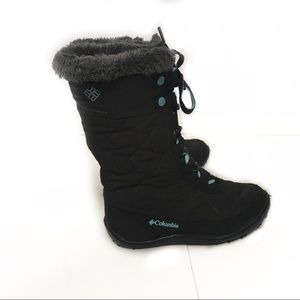 Columbia black youth waterproof snow boots size 1